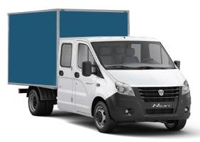 Изотермический фургон со сдвоенной кабиной — удлиненная рама 3 метра
